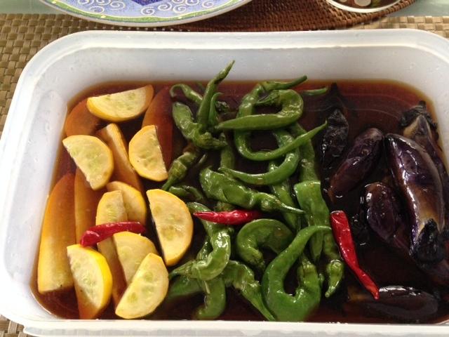 小さな夏野菜たちで・・_b0236665_22300778.jpg