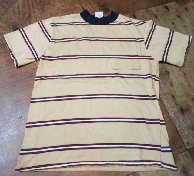 8/1(土)入荷!70'S all cotton ボーダーポケットTシャツ!_c0144020_1554810.jpg