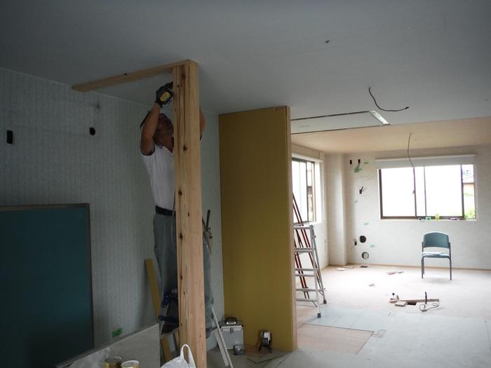 事務所の室内改装 ~ クロス工事_d0165368_1629371.jpg
