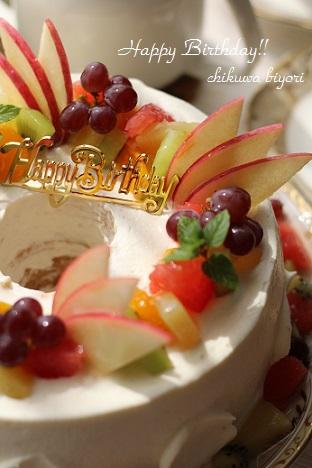 母のお誕生日ケーキ☆シフォンデコレーション_c0251314_1623567.jpg