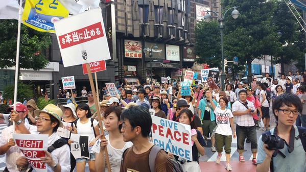 渋谷で戦争法案反対・高校生がデモ 応援の大人たち含め5000人が参加_c0024539_1225015.jpg