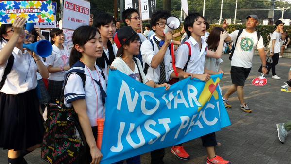 渋谷で戦争法案反対・高校生がデモ 応援の大人たち含め5000人が参加_c0024539_1225036.jpg