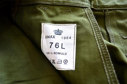 Danish army M66 Herring bone army pants dead stock_f0226051_155139100.jpg