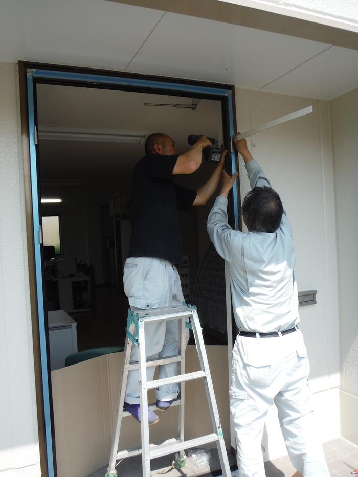事務所の室内改装 ~ 入口ドア取替_d0165368_1550155.jpg