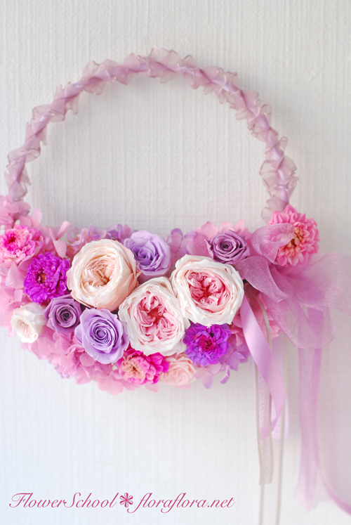 8月生花レッスン ポストカードにするために…写真に撮るためにお花をいける * 夏休みのお知らせ *_a0115684_01240060.jpg