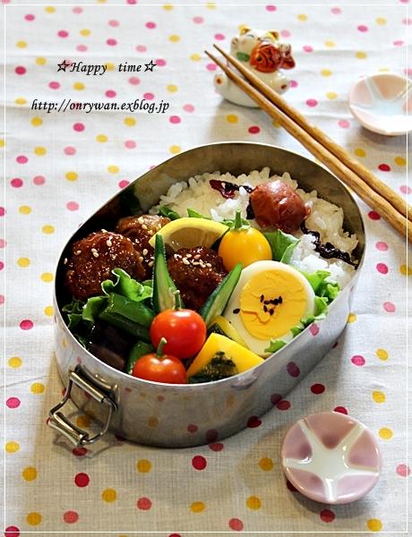 肉団子の甘酢あん弁当とクグロフ型でマーブルケーキ♪_f0348032_18515285.jpg