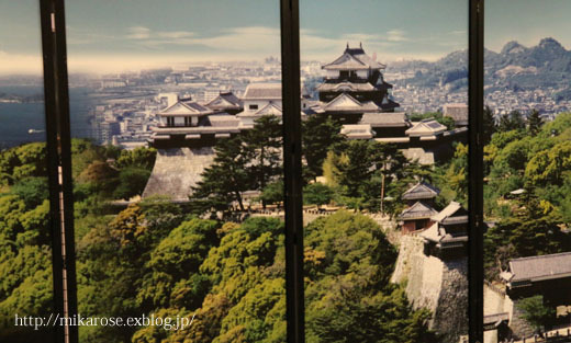 ステーキと松山城ライトup_a0264538_09180802.jpg