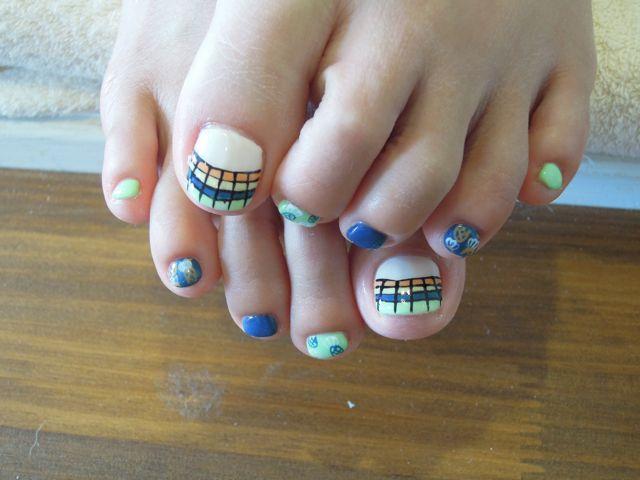 Summer Foot Nail_a0239065_1151541.jpg