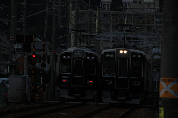 阪急箕面線 夕方_d0202264_18244320.jpg