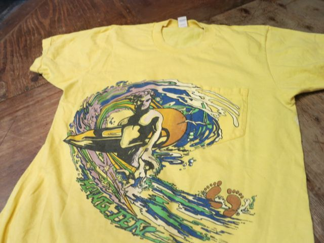 8/8(土)入荷!70s〜HANG TEN print on Pocket Tシャツ!_c0144020_15215099.jpg