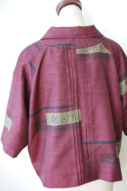 着物リメイク・大島紬のラグラン袖ショートコート_d0127925_16124896.jpg