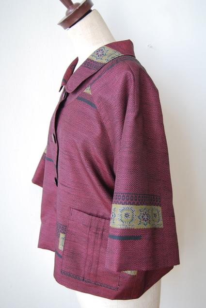 着物リメイク・大島紬のラグラン袖ショートコート_d0127925_16131365.jpg