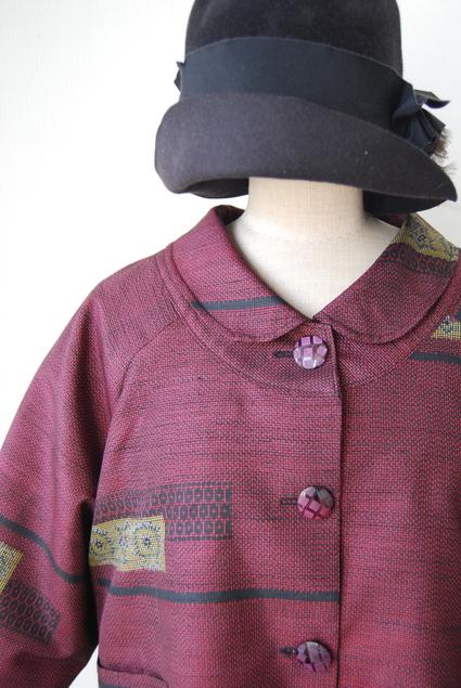 着物リメイク・大島紬のラグラン袖ショートコート_d0127925_16133557.jpg