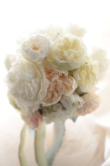 はじめてでも簡単!造花の白バラブーケの作り方 東京堂さん7階展示シリーズまとめ_a0042928_9445296.jpg