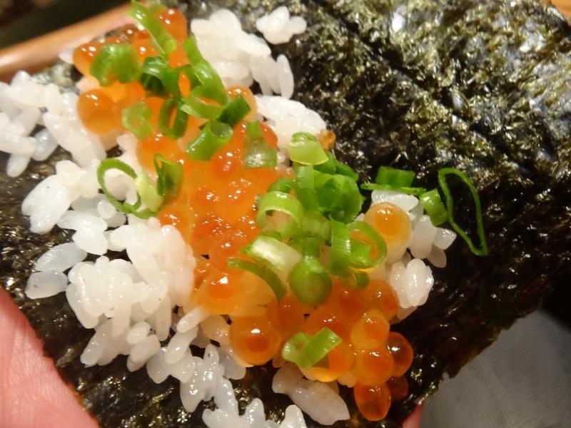 久し振りのキッチンスタジアム、この日は手巻き寿司です。_c0225997_8511397.jpg
