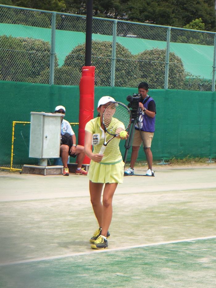 ◆2015夏のインターハイ テニス ~沖縄尚学・リュー理沙マリー~_f0238779_7324488.jpg