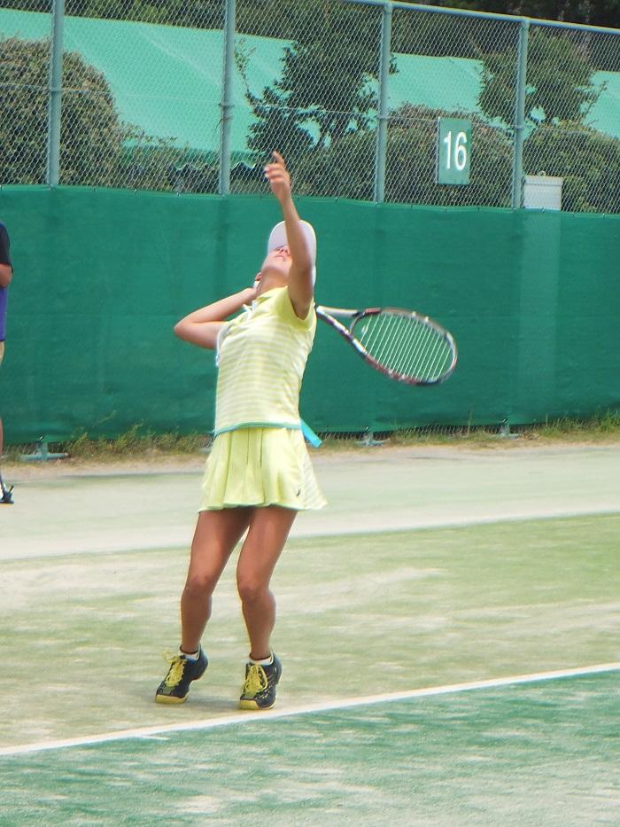 ◆2015夏のインターハイ テニス ~沖縄尚学・リュー理沙マリー~_f0238779_7325450.jpg