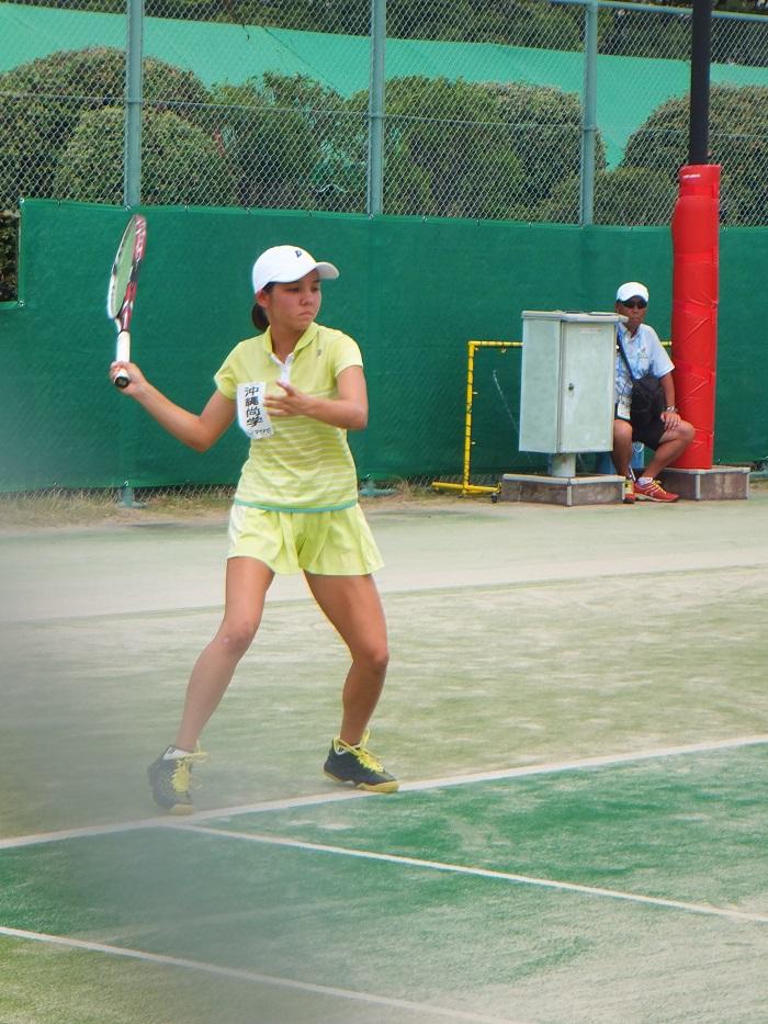 ◆2015夏のインターハイ テニス ~沖縄尚学・リュー理沙マリー~_f0238779_7331262.jpg