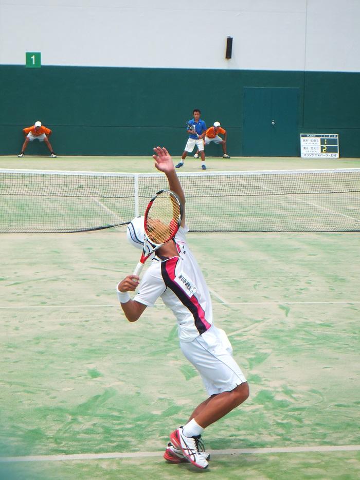 ◆2015夏のインターハイ テニス ~沖縄尚学・リュー理沙マリー~_f0238779_7340100.jpg