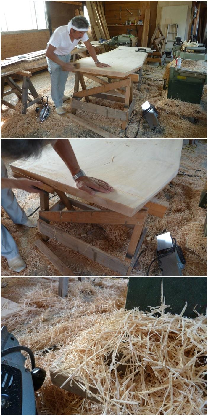 横浜市神奈川区の家☆トチの木のテーブル制作_c0152341_834469.jpg