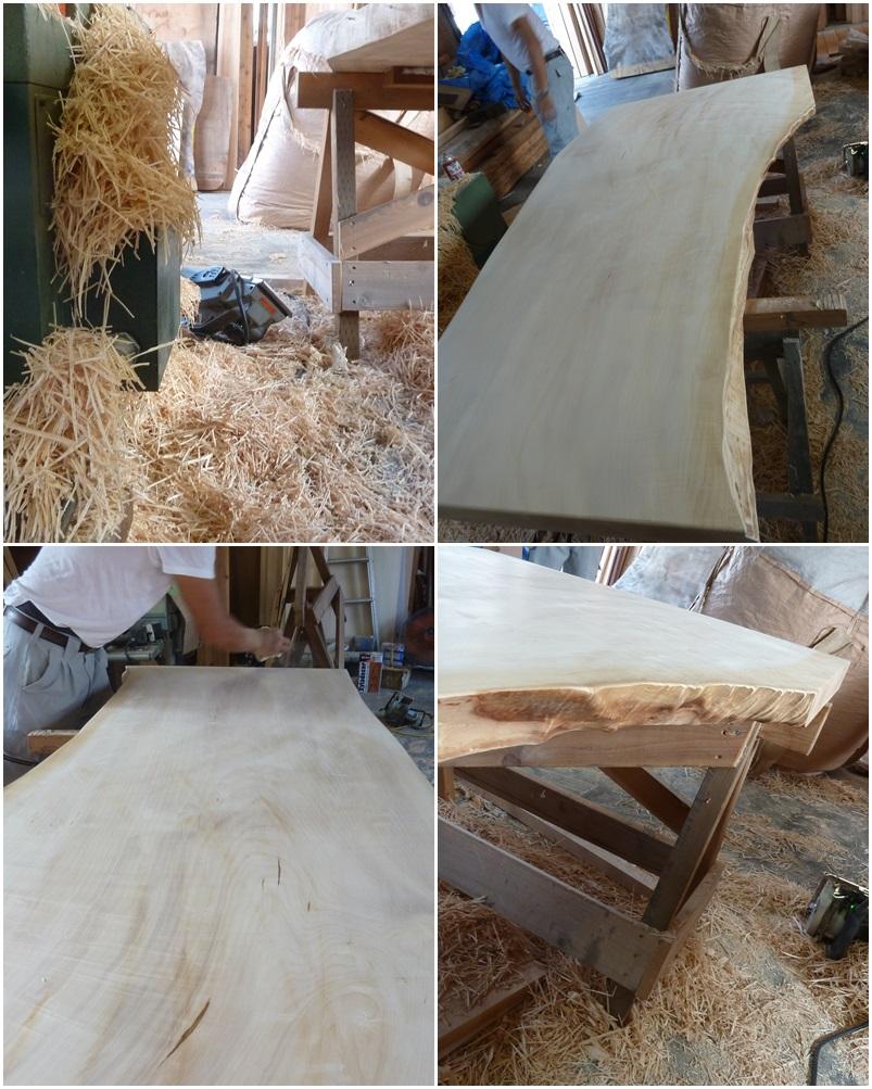 横浜市神奈川区の家☆トチの木のテーブル制作_c0152341_8345889.jpg
