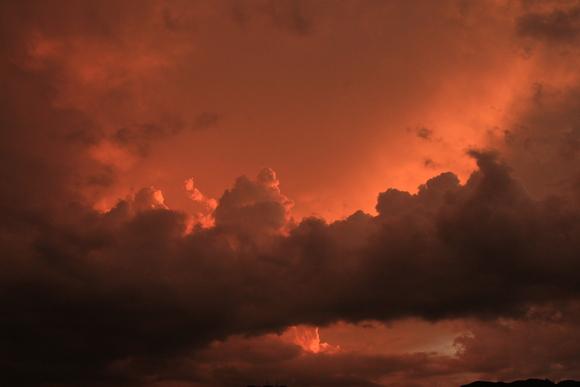 2015年 中部方面混成団から見る夕陽。_d0202264_15191970.jpg