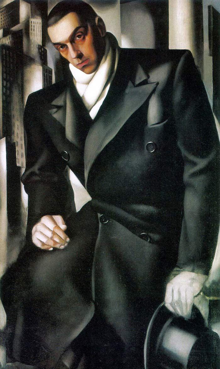 タデウシュ・ド・レンピッキの肖像(1928)_c0084183_15375745.jpg