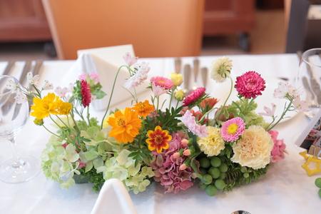 夏の装花 ルヴェソンヴェール駒場さまへ 本当によいひと時を_a0042928_14323973.jpg