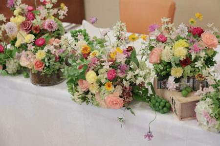 夏の装花 ルヴェソンヴェール駒場さまへ 本当によいひと時を_a0042928_1433503.jpg