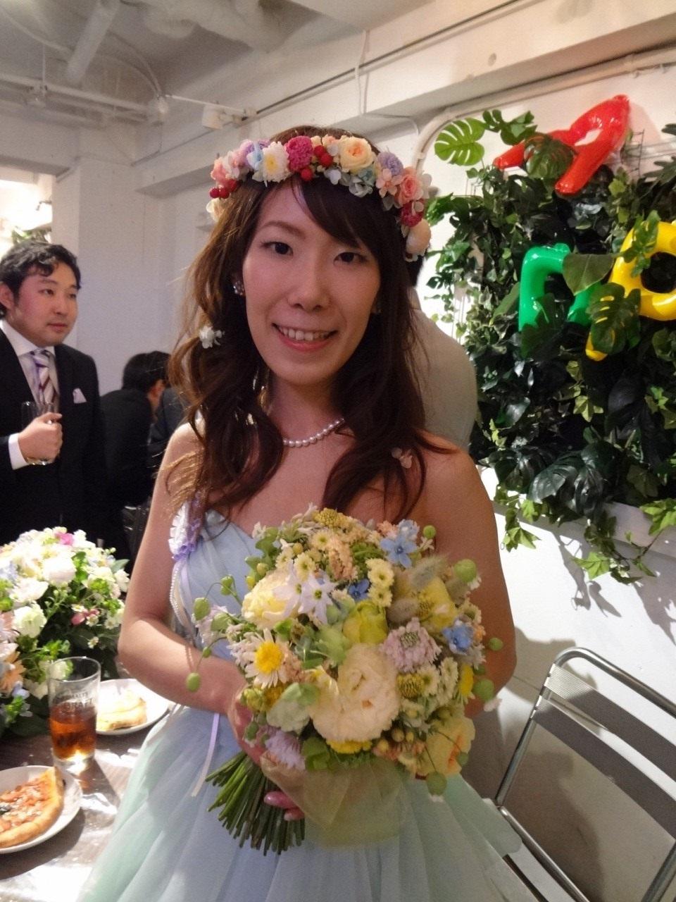 新郎新婦様からのメール シェラトングランデ東京ベイ様へ 草花の黄色と水色で_a0042928_23232046.jpg