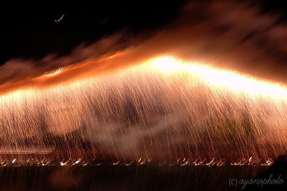 2015年鏡川花火大会のナイアガラ