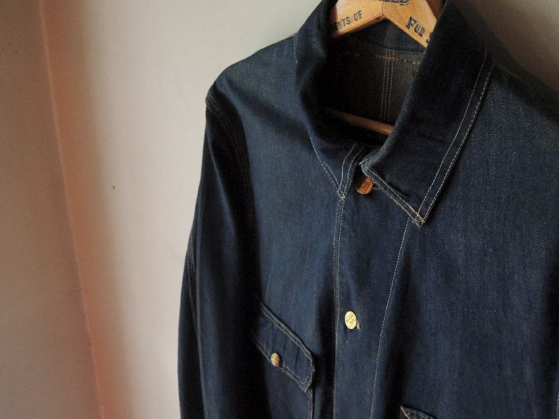 30S~ BURLINGTON OVERALL DENIM COVERALL--RECOMMEND--_c0176867_12381678.jpg