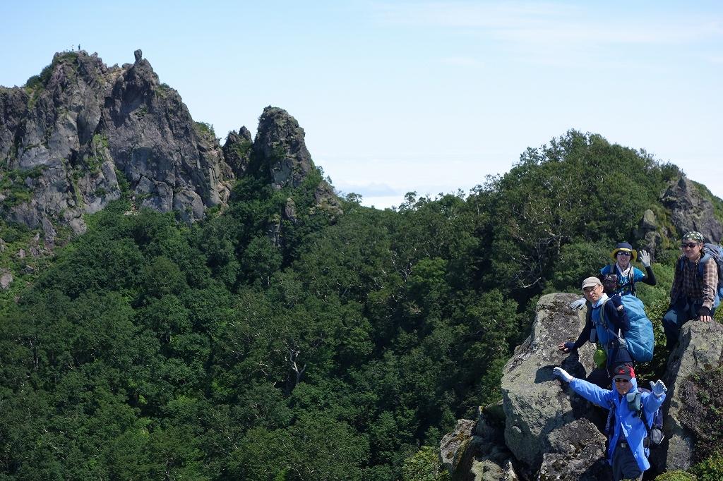 恵庭岳西峰と本峰、8月8日_f0138096_11301429.jpg