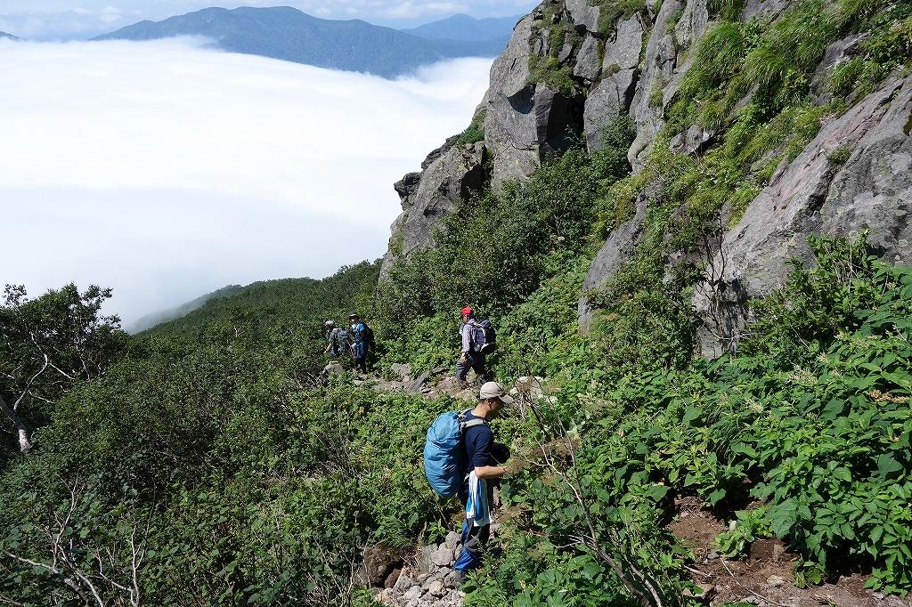 恵庭岳西峰と本峰、8月8日_f0138096_11324531.jpg