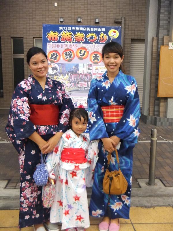 7/31 布施駅前で盆踊り_e0175020_0122045.jpg