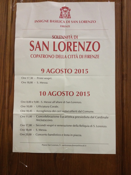 フィレンツェ、サン・ロレンツォの祝日_a0136671_0422587.jpg