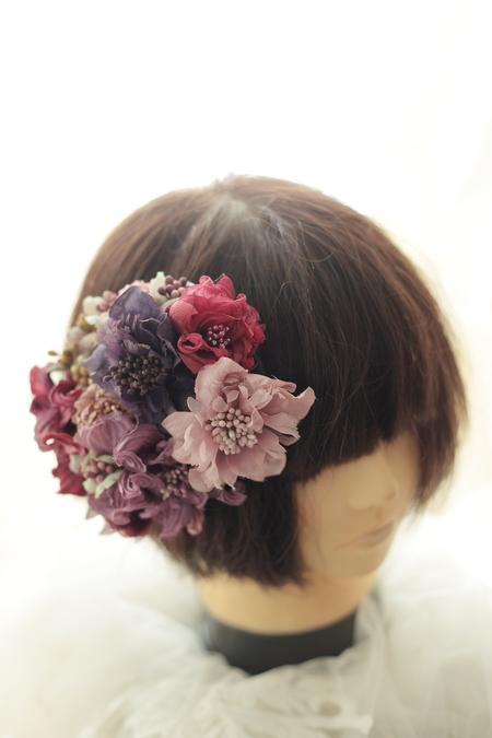 はじめてでも簡単!花の髪飾りの作り方 ヘッドベースを使って 東京堂7階展示のウェディング展示2_a0042928_135043.jpg
