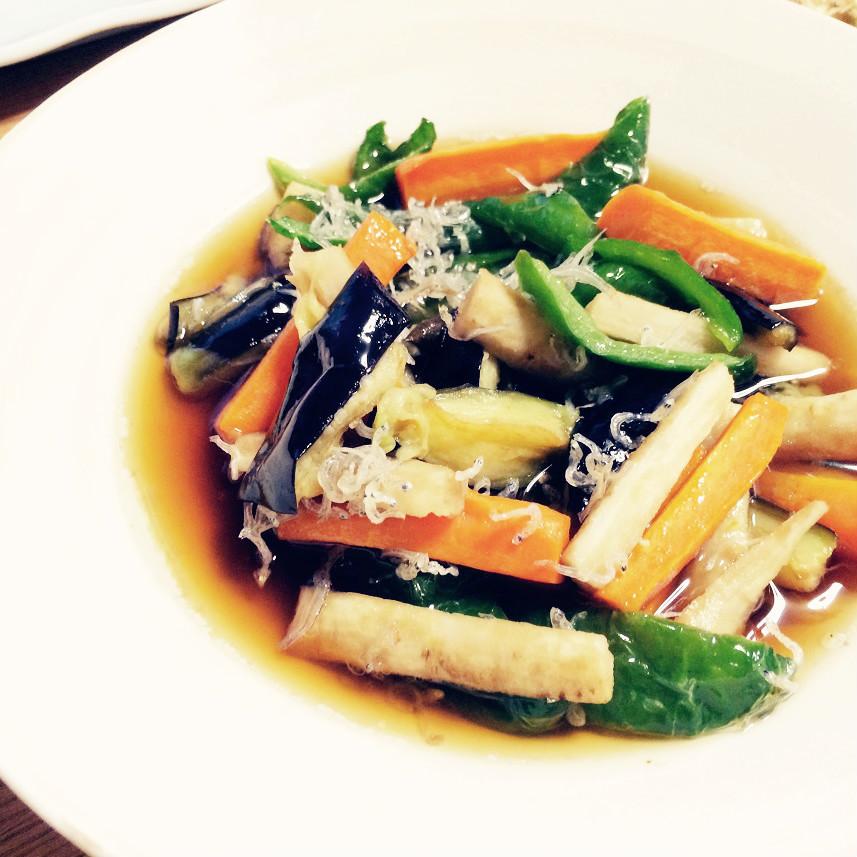 夏野菜の揚げ浸し作りました~_c0357333_22211950.jpg