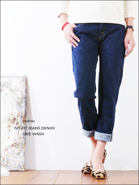 orslow [オアスロウ] IVY FIT JEANS DENIM ONE WASH [00-0107-81] LADY\'S_f0051306_15551703.jpg