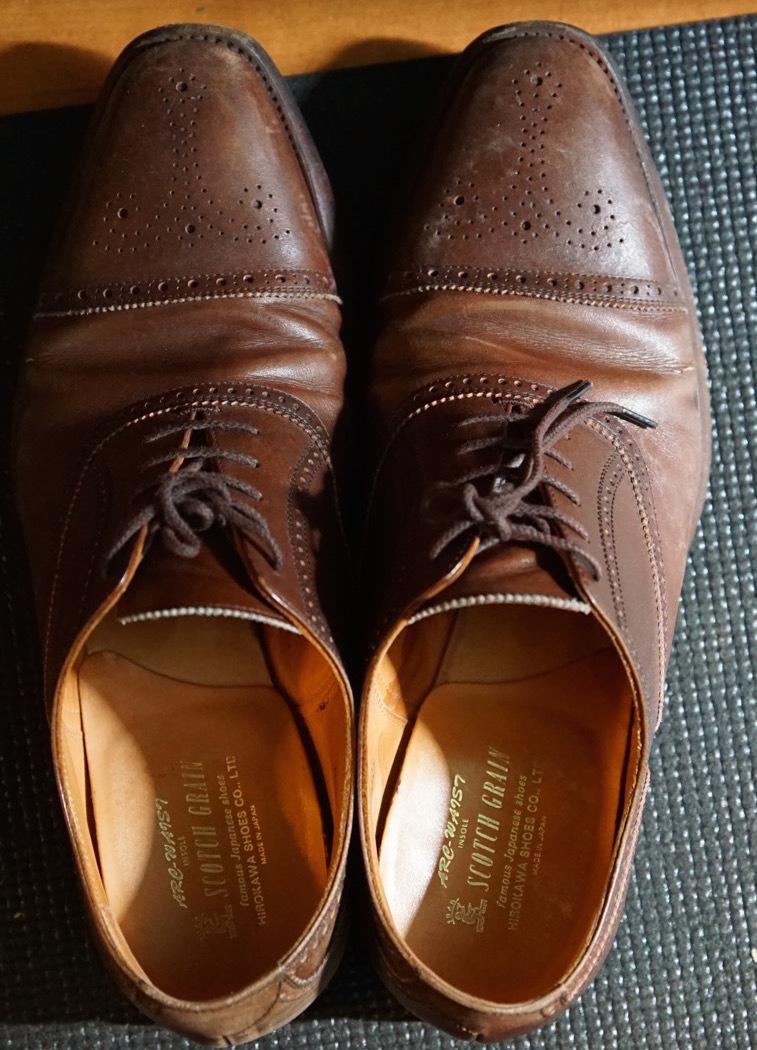 履き続けていたスコッチグレインがボロボロになったのでミスターミニッツで修理してみた。それがエコ。_b0024832_19141719.jpg