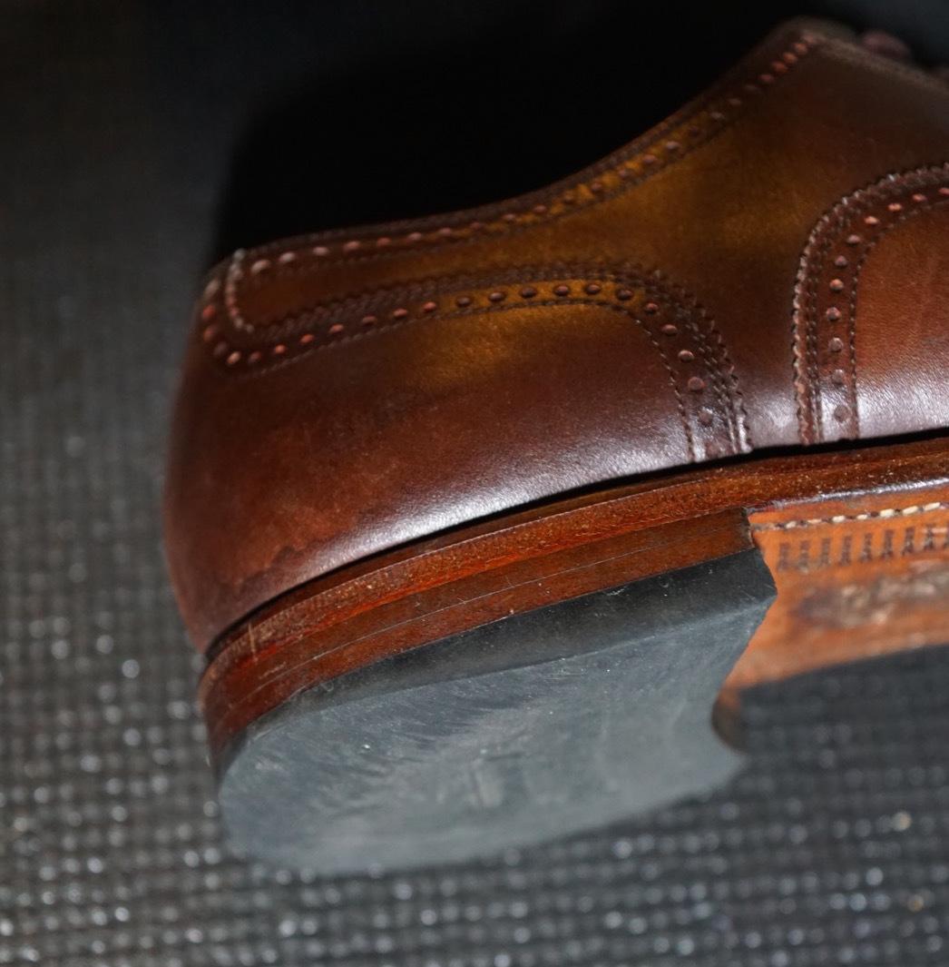 履き続けていたスコッチグレインがボロボロになったのでミスターミニッツで修理してみた。それがエコ。_b0024832_19144387.jpg