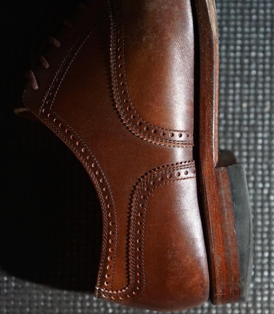 履き続けていたスコッチグレインがボロボロになったのでミスターミニッツで修理してみた。それがエコ。_b0024832_19144824.jpg