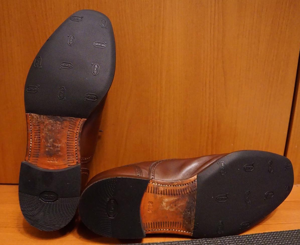 履き続けていたスコッチグレインがボロボロになったのでミスターミニッツで修理してみた。それがエコ。_b0024832_19165793.jpg