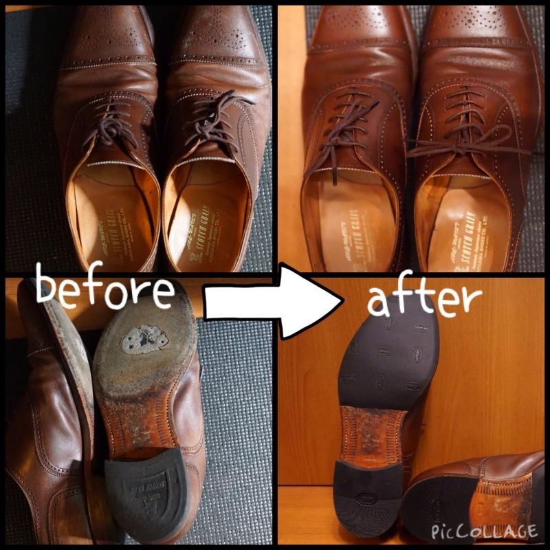 履き続けていたスコッチグレインがボロボロになったのでミスターミニッツで修理してみた。それがエコ。_b0024832_19171571.jpg