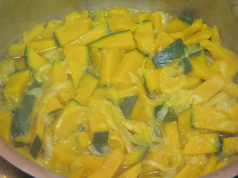 自然栽培の「かぼちゃスープ」に。_a0125419_05360960.jpg