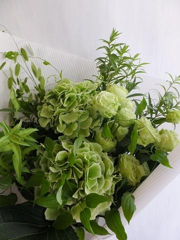 オークリーフ(紫陽花のグリーンブーケ)_f0049672_15182485.jpg