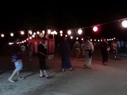 女子畑で盆踊り_e0175370_8571057.jpg