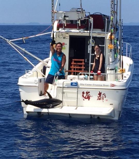 浜名湖のK艇さんがキハダ40㎏!【カジキ・マグロトローリング】_f0009039_15044549.jpg