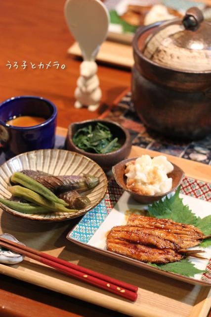 鰯の蒲焼き。鮭とレタスの炒飯。_f0348831_07411663.jpg