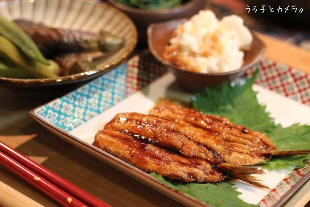 鰯の蒲焼き。鮭とレタスの炒飯。_f0348831_07413114.jpg